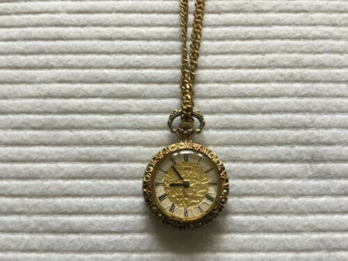 Colibri 17 Jewels Incabloc Mechanical Wind Up Vintage Necklace Pendant Watch