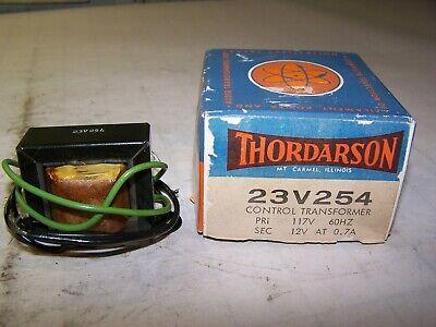 New Thordarson Control Transformer 117 Volt Primary 12 Volt Secondary 23v254
