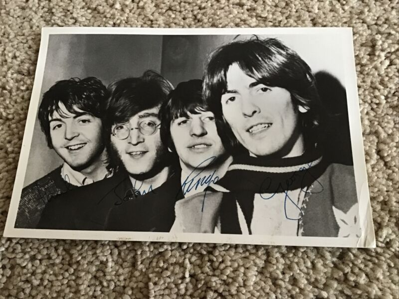 THE BEATLES AUTOGRAPHED PHOTO