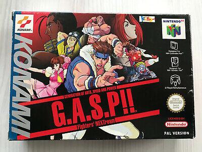 G.A.S.P !! NINTENDO 64 N64 PAL CIB MULTI