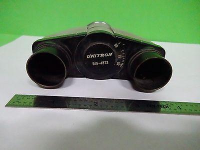 Microscope Part Unitron Head Optics As Is Binw3-03