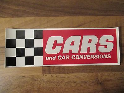 cars and car conversions sticker, retro, racing, tuning, hillclimb, old school