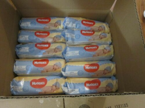 HUGGIES PURE NATURAL BABY  WIPES  560 ( 10 PACKAGES X 56 )