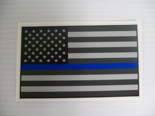 "American Flag Blue Stripe Decal 2.5"" x 4"""
