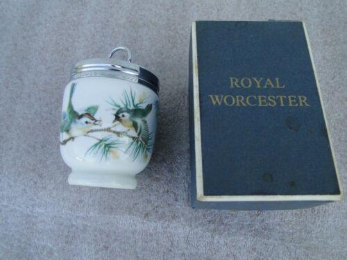Royal Worchester Egg Coddler Birds Chickadees in Box