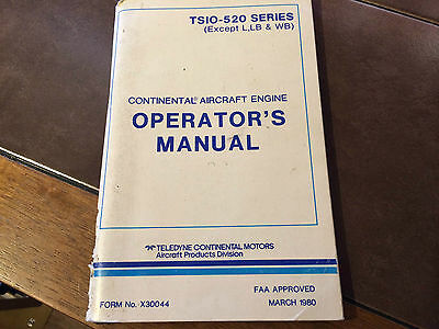Continental TSIO-520 Series Engine Operator's Manual