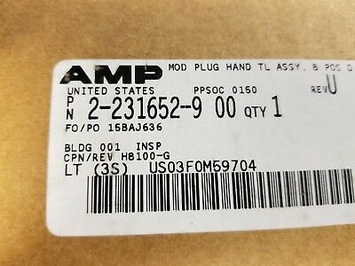 Amp 2-231652-9 00 Crimp Tool