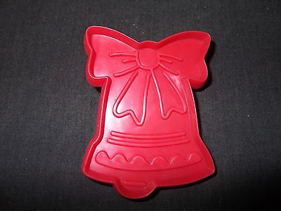 Christmas Cookie Cutter Cut Out Plastic Holiday Bell With Ribbon Icing Fondant  ()