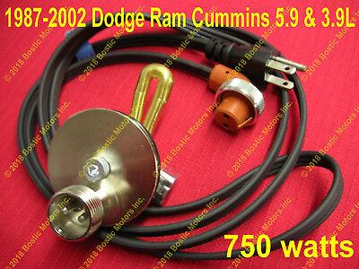 Dodge Ram Cummins 3.9 & 5.9 L Diesel 750w Engine Block Heater 1987-2002 4BT 6BT