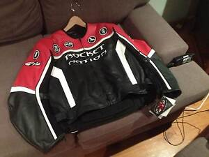 Joe Rocket Red & Black Leather Jacket - Brand New Larger Size 46 Camden Camden Area Preview