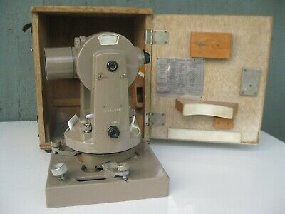Vintage Dietzgen Transit Theodolite Model A In Carrying Case