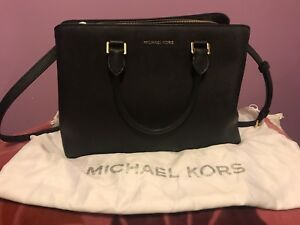 Michael Kors Savannah Black Saffiano Leather Satchel - Large