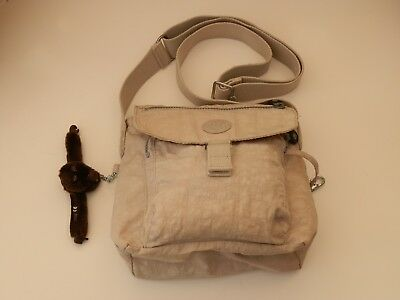 KIPLING CREAM MEDIUM SIZED HANDBAG