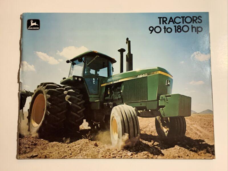 John Deere Tractors 4040, 4240, 4440, 4640, 4840 48 PAGES 1977 Sales Brochure