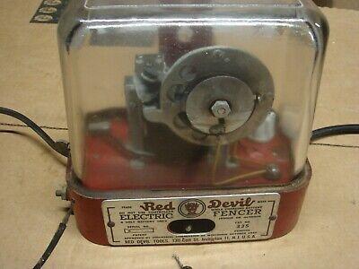Vintage 1945 Ww 2 Red Devil Electric Fencer Fence Farm Animal Controller Tool
