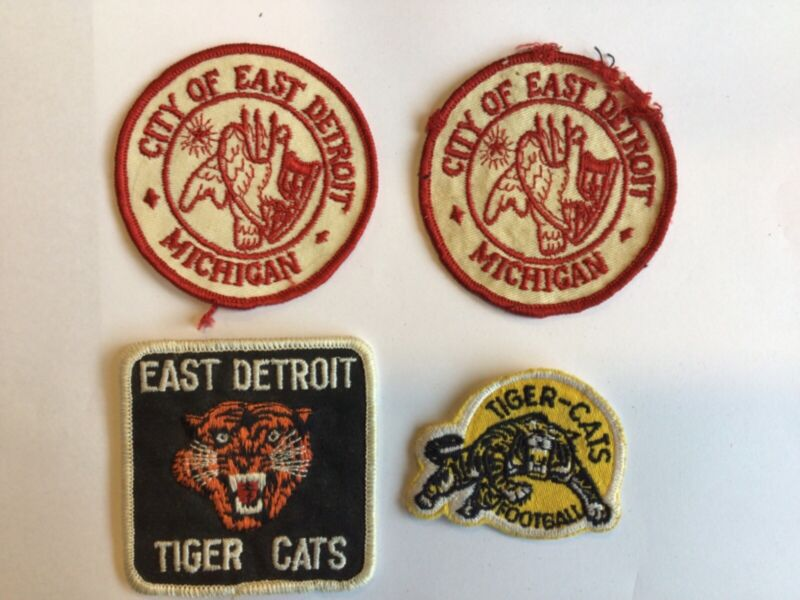 4 - Vintage Collectible CITY of EAST DETROIT Patches