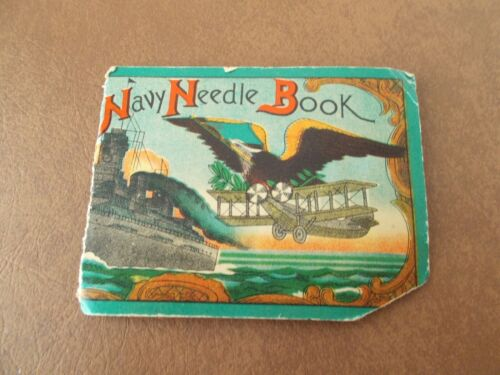 Vintage Needle Pack- Navy Needle Book
