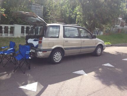 Station wagon,a year rego slip,camping equipment