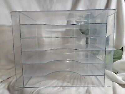 Large Clear Plasticacrylic Desk Lettersorterorganizer6 Trays2-3dividers