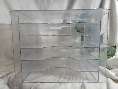 Large Clear Plasticacrylic Desk Lettersorterorganizer6 Trays2-3dividers