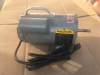 New Baldor .25 Hp Ac Electric Industrial Motor 4856fr 115230 Vac 1ph 1725 Rpm