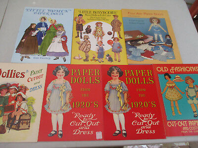 Paper Doll Lot Antique Style Fashion Victorian Age Vintage Old Fashioned 80s