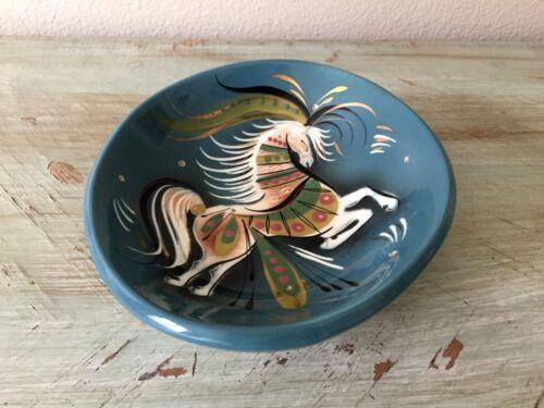 Vintage SASCHA BRASTOFF Star Steed BOWL Mid-Century Dish MCM Ceramic Dish HORSE