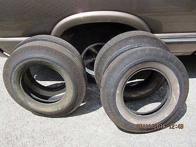 5  Goodyear 7.10-15 Wide White Tires NOS NON-DOT Super