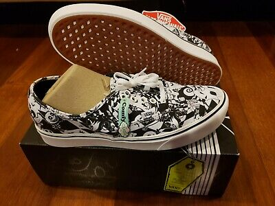Nightmare before christmas Vans Shoes comfy cush black and white checkered sz 11 ()