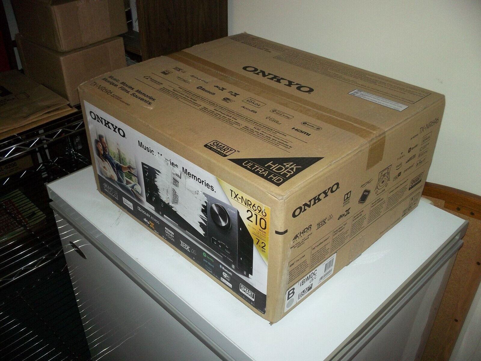 NEW Onkyo TX-NR696 7.2 Channel 4K Ultra HD AV Receiver w/ Do