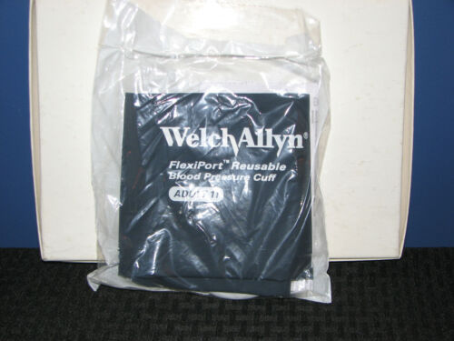 Welch Allyn 90143 Flexiport Re-use BP Cuff 1 Tube Size Adult 11 NEW