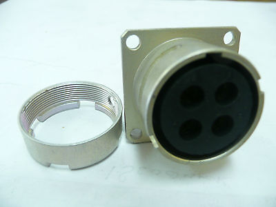 Souriau  84033172  4pin Flangepanel Mount Connector  New