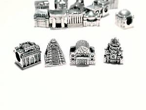 """27 Solid S/Silver """"World Landmark"""" Charm Beads, European Jewelle Claremont Nedlands Area Preview"""