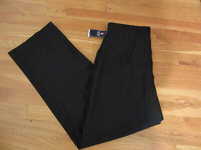 NWT MENS BOYS BLACK CHAPS PANTS 18 HUSKY 30 X 30 FLAT FRONT CHINOS KHAKIS  (Boys Flat Front Pants)