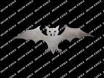 Halloween Bats Stencils (Metal Plasma Cut Bat #8 Stencil Halloween Decoration Rat Rod Art)