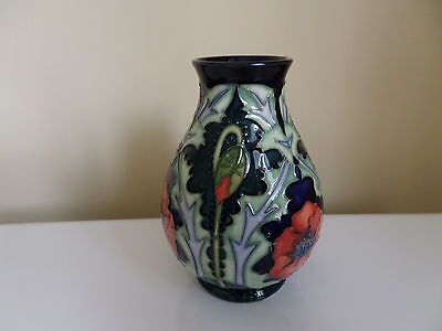 Moorcroft Poppy Vase by Rachel Bishop          M36