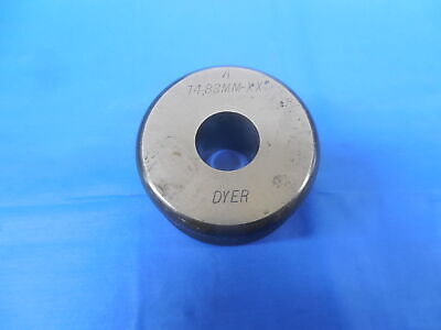 14.830 Class Xx Master Plain Bore Ring Gage 15.000 -.170 Undersize 15 Mm .5839