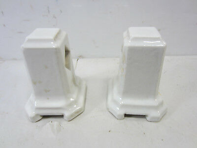Vintage White Porcelain Bathroom Towel Brackets