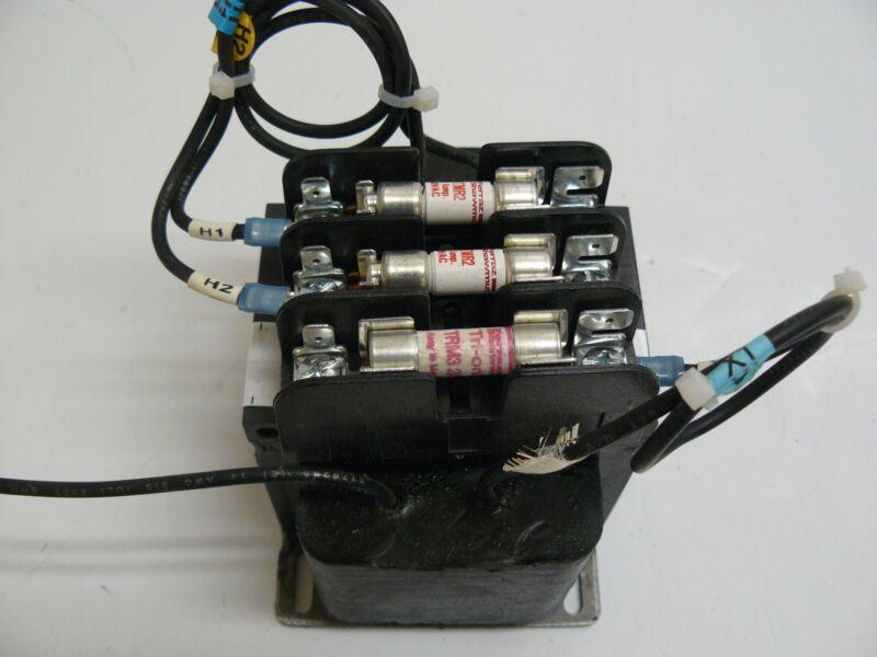 GENERAL ELECTRIC 9T58K0507G38 TRANSFORMER WITH FERRAZ SHAWMUT 3032-S FUSE BLOCK