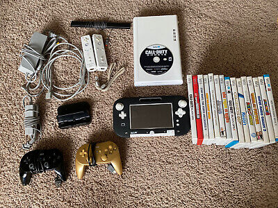 Nintendo Wii U console With mario and 15 Other Games