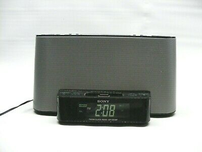 Sony Alarm Clock Radio Dream Machine iPhone/iPod 30 Pin ICF-CS10ip Working