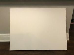 Large blank canvases (stretched on wooden frames)