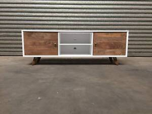 NEW TV UNIT: DOMENIQUE IN LARGE AND SMALL ETU TWO-TONE ELEGANT Leumeah Campbelltown Area Preview