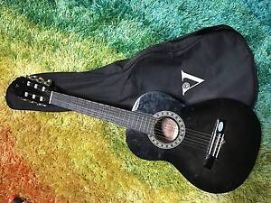 Valencia 1/2 size classical guitar - black with cover Sawyers Valley Mundaring Area Preview