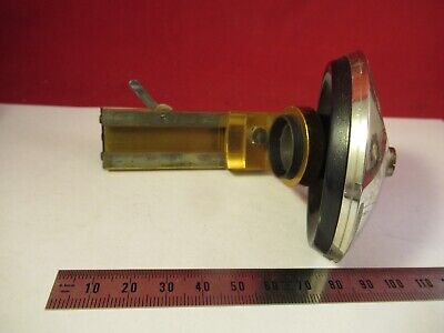 Antique Ernst Leitz Germany Nosepiece Stage Microscope Part Optics As Pic 9-a-80