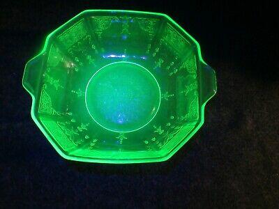 Green Depression Vaseline Glass 8