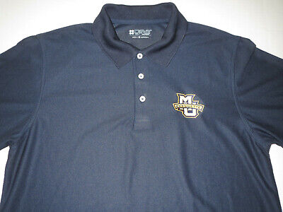 Marquette Golden Eagles Warriors Gear Brand Golf Polo T-shirt Med *NEW* ()