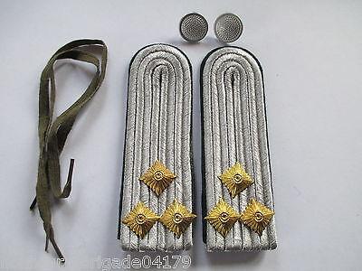 NVA 1 paar Schulterstücke Oberleutnant  Rückwärtiger Dienst  dunkelgrün