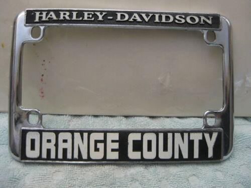 Vintage Orange County Harley Davidson California Motorcycle License Plate Frame