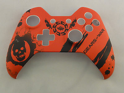 Gears Of War Hydro Dipped  Front Shell For Xbox One Controller    New